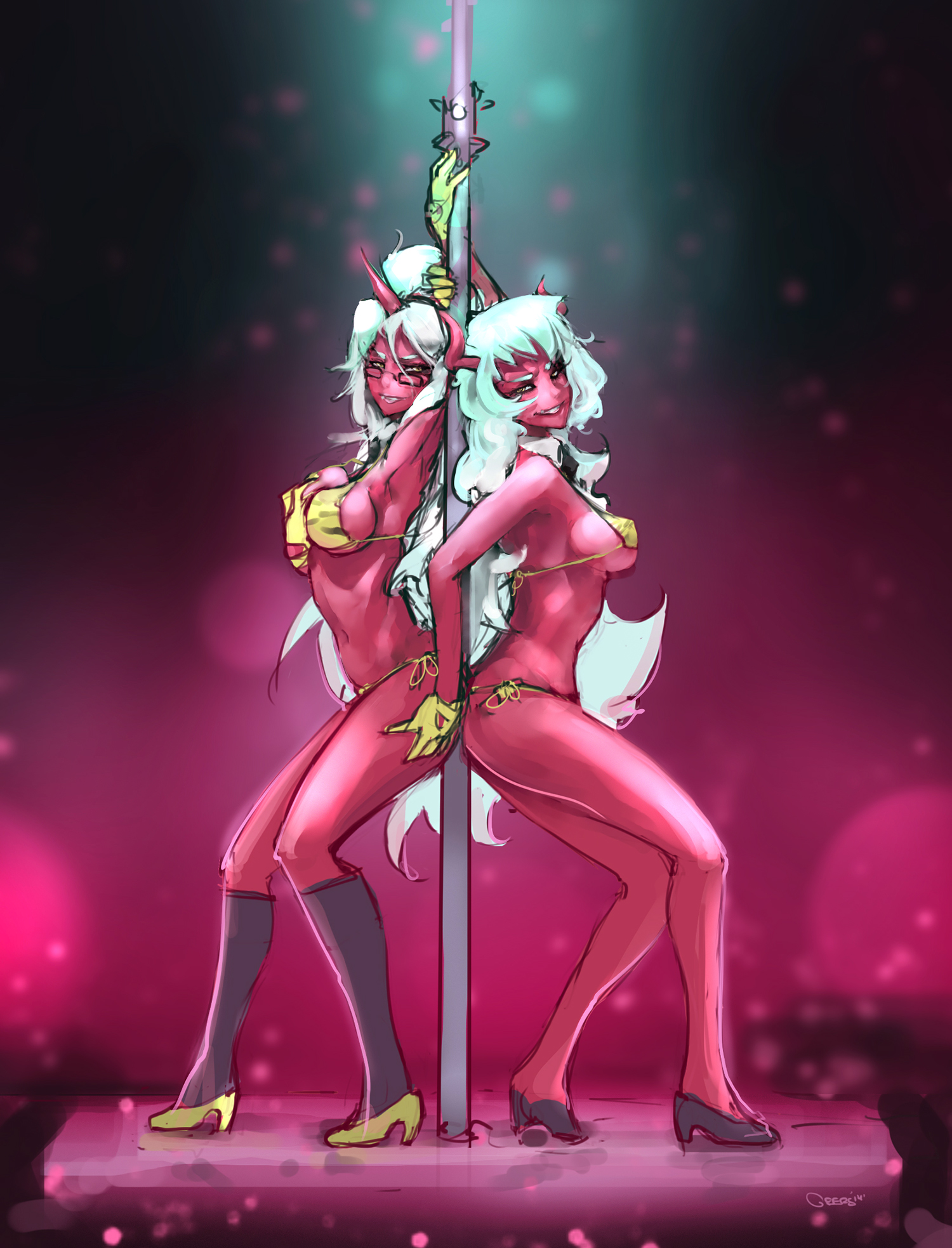 Scanty and Kneesocks by DarrenGeers