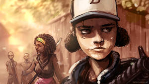 Walking dead stream speedpaint
