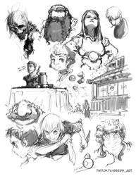 Stream sketch 14
