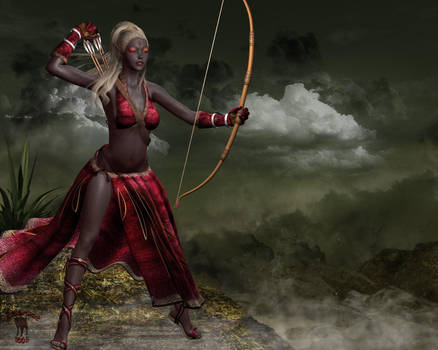 Dark Elf: Huntress