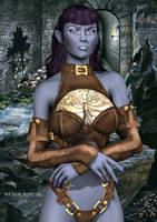 Xandra - Dark Elf (Drow) by black-Kat-3D-studio