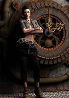 Genys...Punk or SteamPunk? by black-Kat-3D-studio