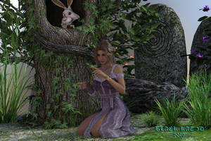 Lori and the Butterfly by black-Kat-3D-studio