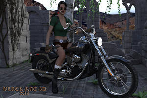 Lara Croft at The Ruins by black-Kat-3D-studio