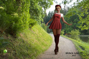 Girl in Red Beret by black-Kat-3D-studio