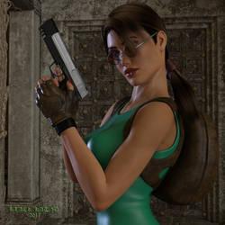 Portrait:  Lara Croft by black-Kat-3D-studio