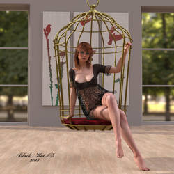 Lacie in Guilded Cage by black-Kat-3D-studio
