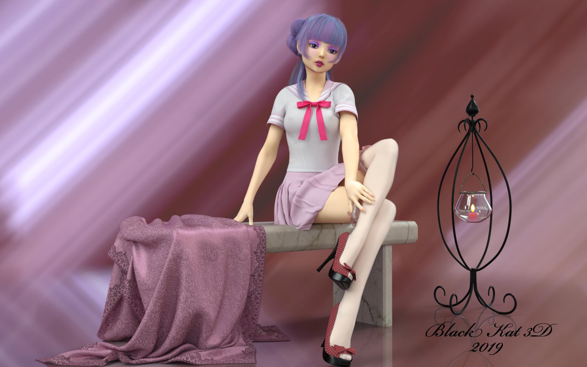 Kira: China Doll by black-Kat-3D-studio