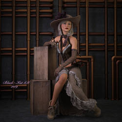 Steampunk Calli by black-Kat-3D-studio