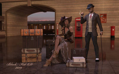Steampunk Victorian Station by black-Kat-3D-studio