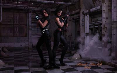 Domino Twins: Guns for Hire.. by black-Kat-3D-studio