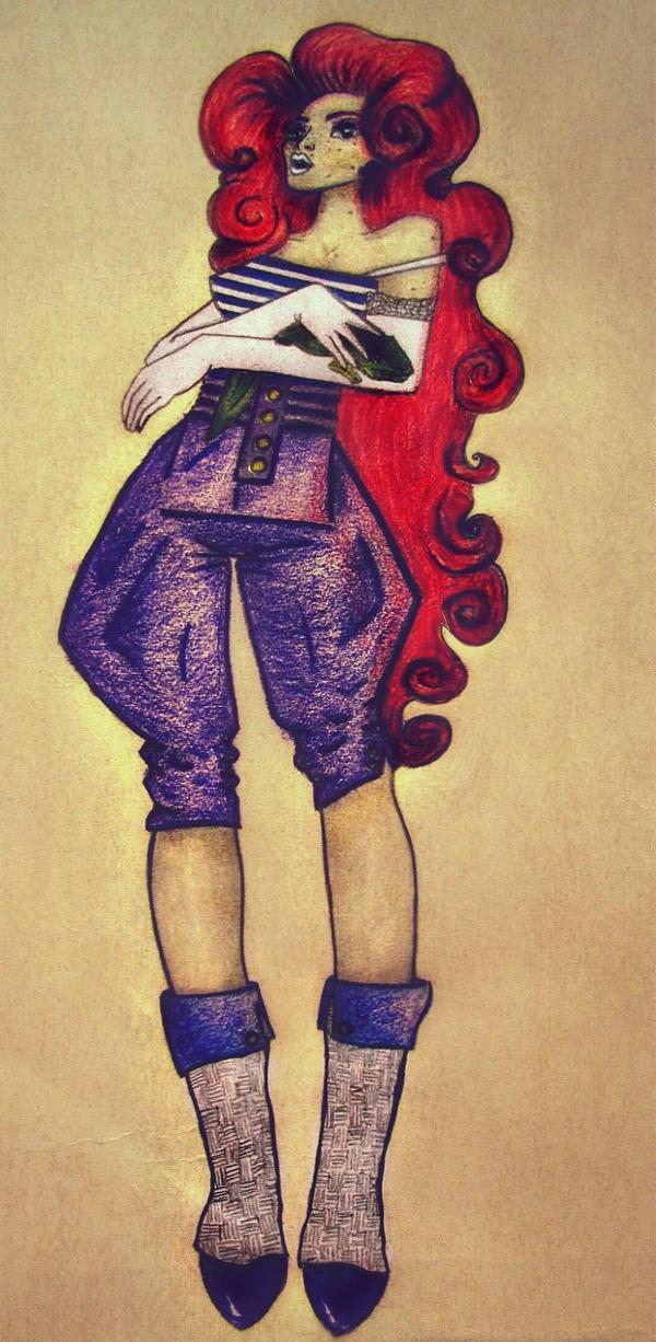 Lady With A Lizzard by Jessica-Lorraine-Z