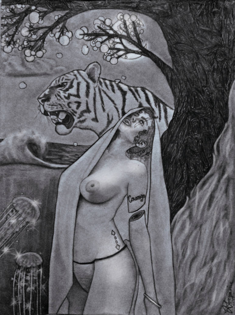 Lady Courage and The Roaring Tiger by Reilune