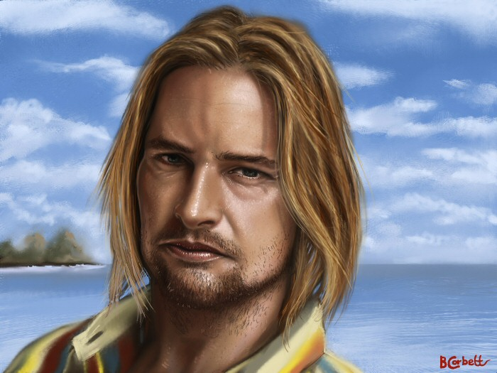 SAWYER en diferentes técnicas Sawyer___Josh_Holloway_by_BillCorbett