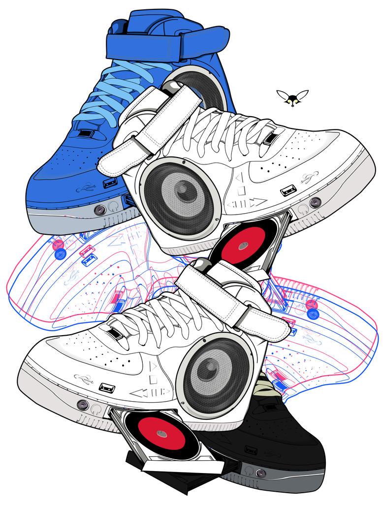 SpeakerShoe by jeloisthename