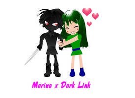 Marina and Dark Link chibi by spikerman87