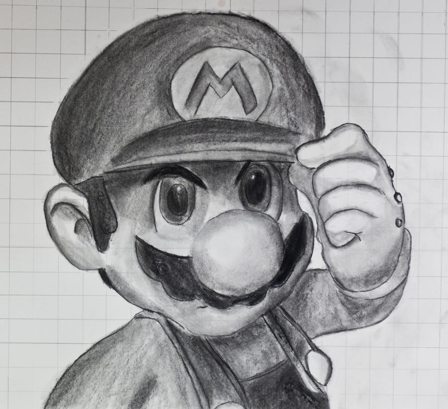 Mario Charcoal by spikerman87