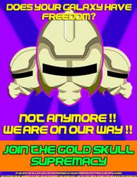 Gold Skull Supremacy Propaganda poster2