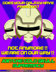 Gold Skull Supremacy Propaganda poster2 by spikerman87
