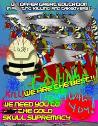 Gold Skull Supremacy Propaganda poster4