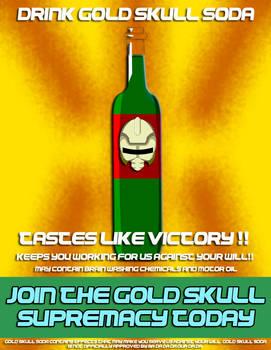 Gold Skull Supremacy Propaganda poster5