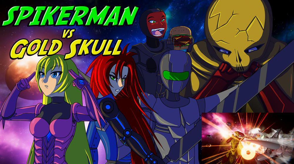 SpikerMan vs Gold Skull - 2D, 3D Animation