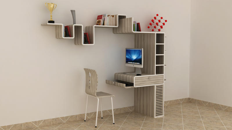 Study Table Wall Mounted1 By Sai108 ...