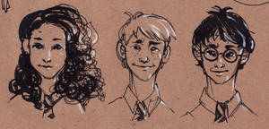 The Golden Trio by coffeenymph