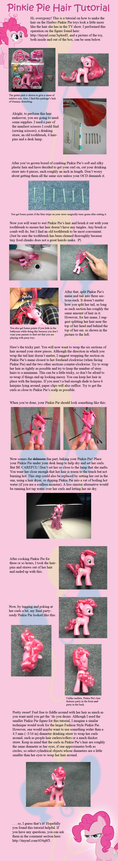 Pinkie Pie Hair Tutorial by countschlick