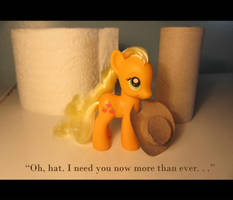 A Little Cardy-board Hat for Applejack by countschlick