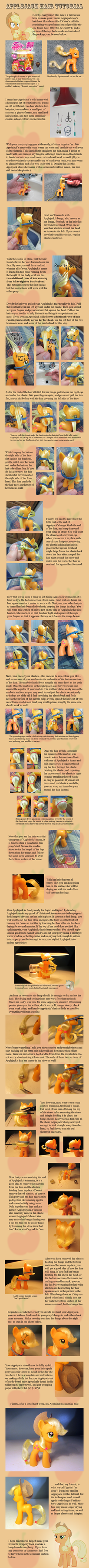 Applejack Hair Tutorial by countschlick