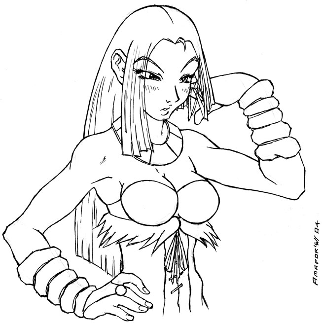 Shara sketch by Chano-kun