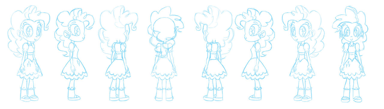 Human Pinkie Pie character sheet sketch by Chano-kun