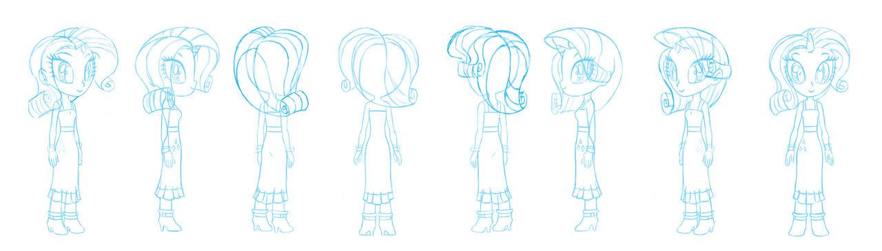 Human Rarity character sheet sketch by Chano-kun