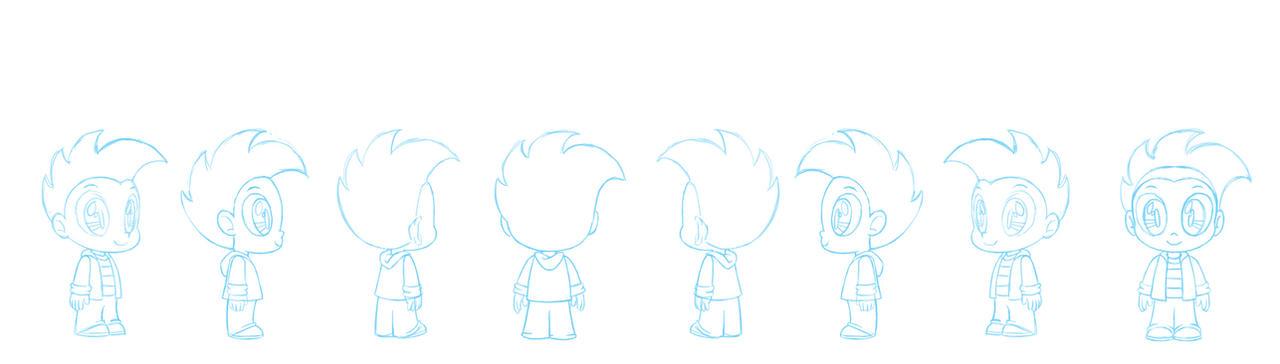 Human Spike character sheet sketch by Chano-kun