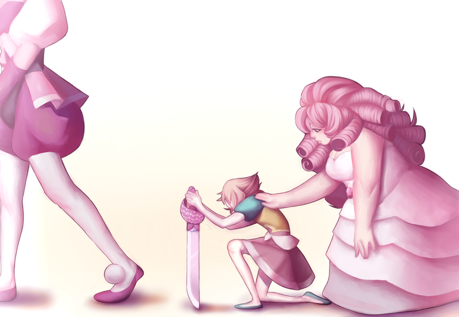 this was based on a pale rose but i just watched the new episode today and hoo boy i love rose quartz/pd
