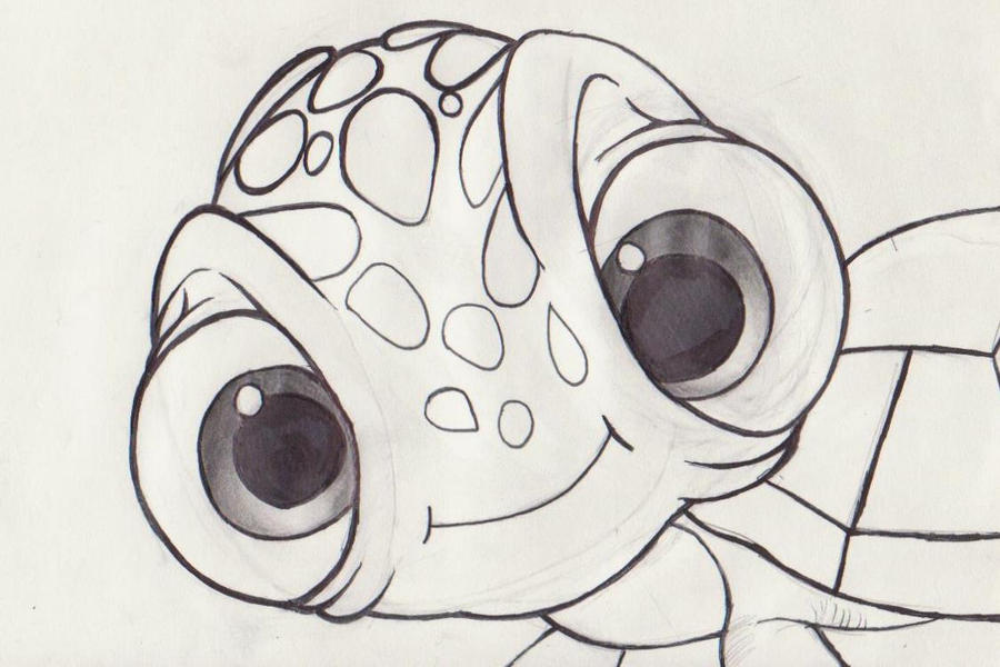 image gallery of finding nemo squirt drawing - Crush Finding Nemo Coloring Pages