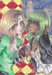 Aeka and Jeanine by Polkadotzombie