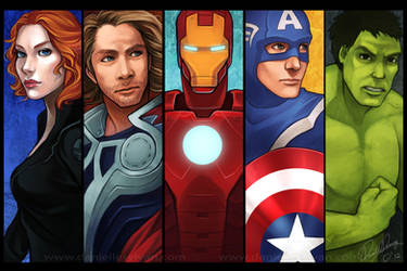 The Avengers by daniellesylvan