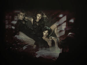 Stefan, elena and damon