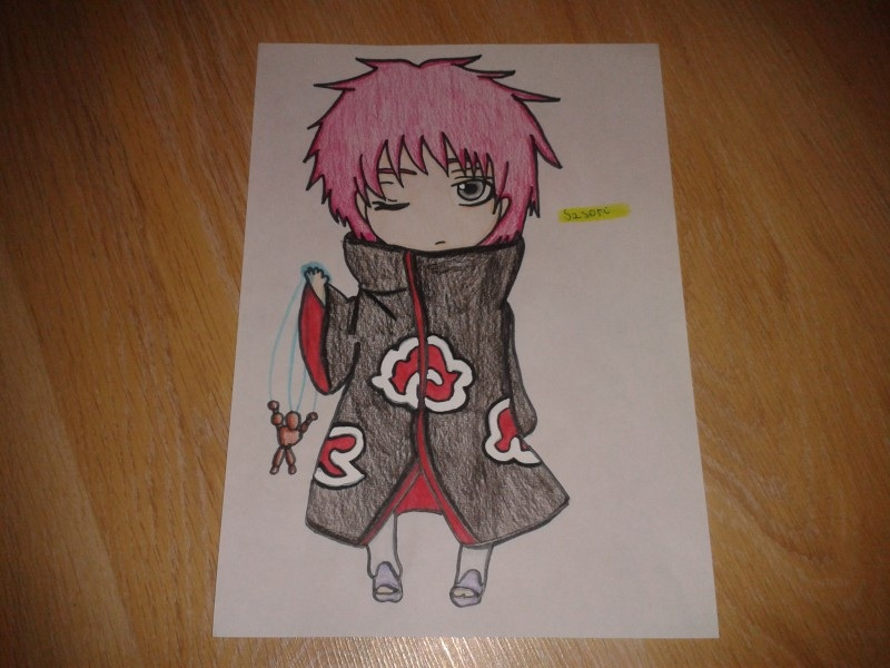 Akatsuki Sasori Akasuna Chibi Drawing By Narutorussia On