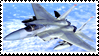 F-15 Eagle Stamp by Anti-Bumblebee