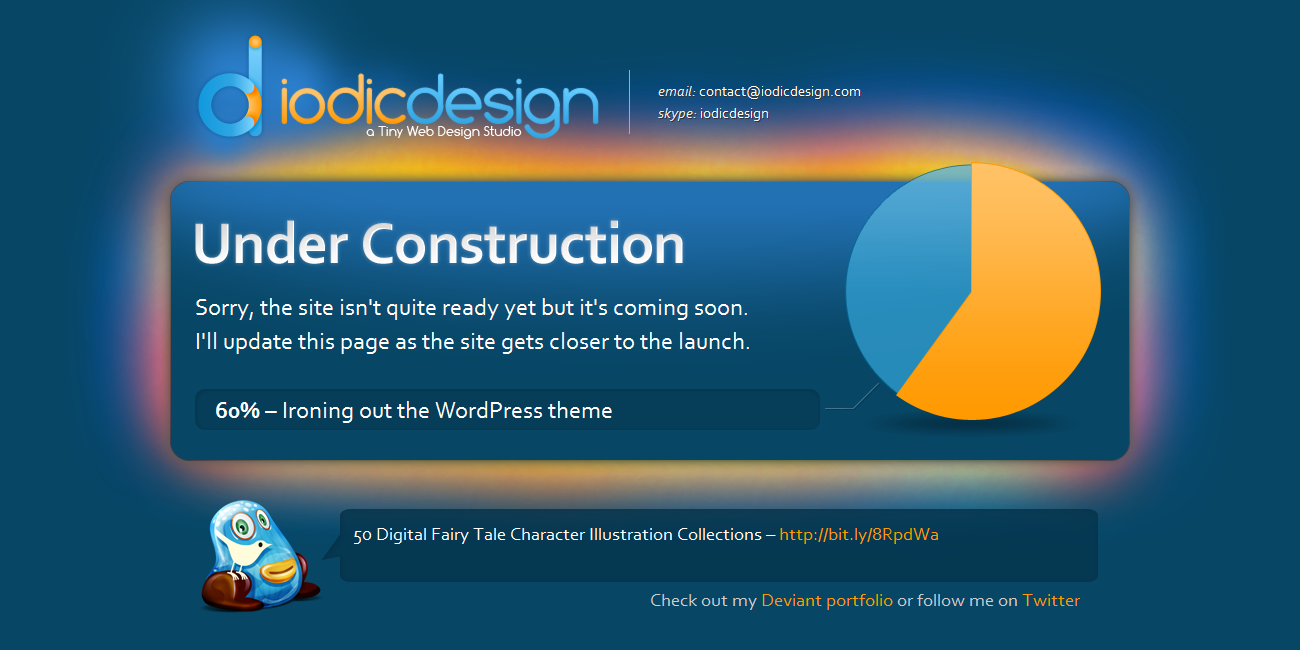 Iodic Design Coming Soon page by iodic