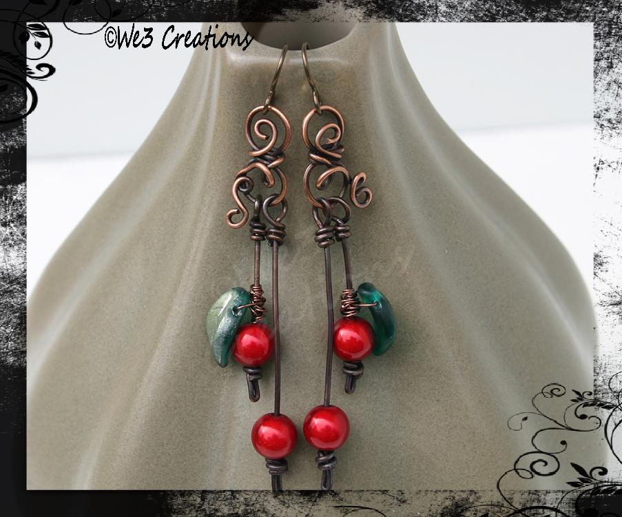 Cherry Earrings by kelleejm1