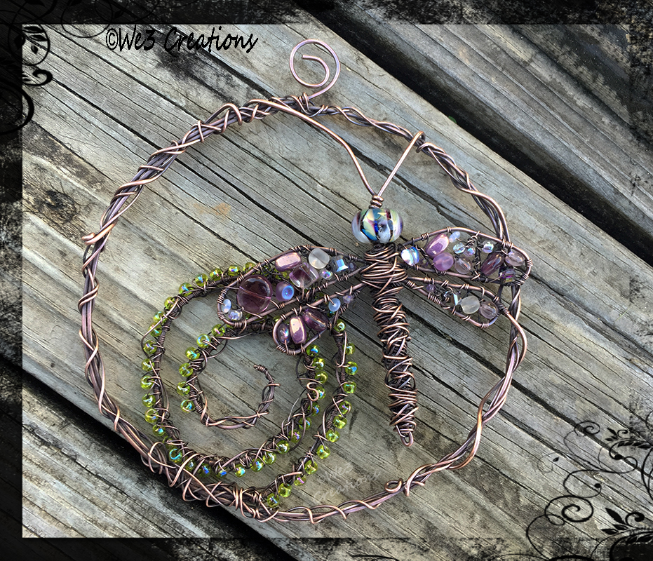 Dragonfly Swirl Suncatcher by kelleejm1