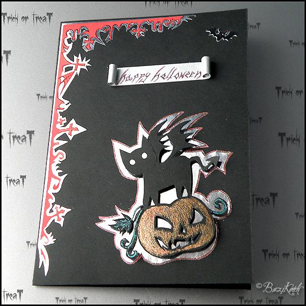 Halloween Postcard by BaziKotek