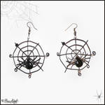 Spider's Web Earrings