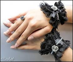Gothic Cuffs by BaziKotek