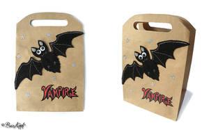 Halloween Vampire Bat gift bag by BaziKotek