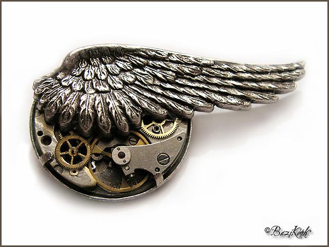 Steampunk Brooch by BaziKotek